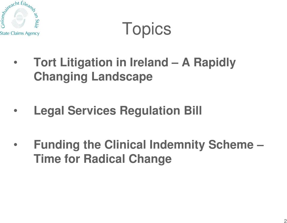 Services Regulation Bill Funding the