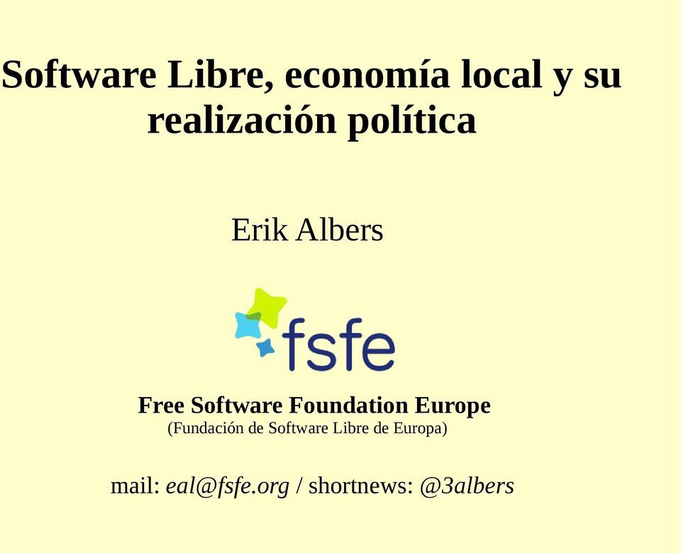 Software Foundation Europe (Fundación de