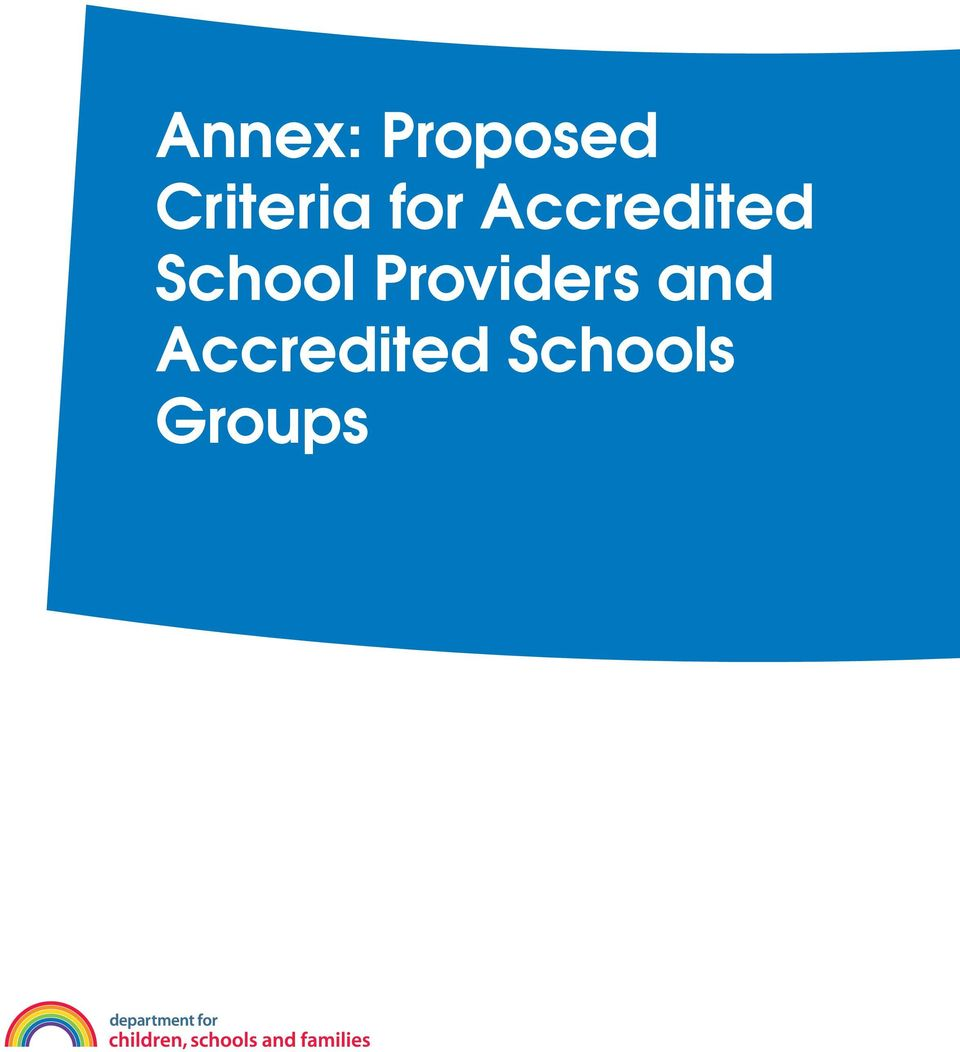 Accredited School