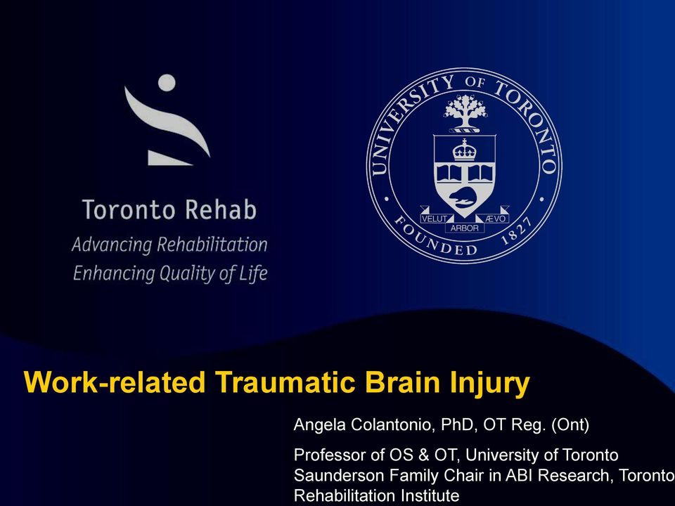 Toronto Rehabilitation Institute Work-related