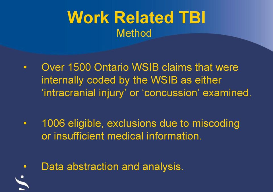 concussion examined.