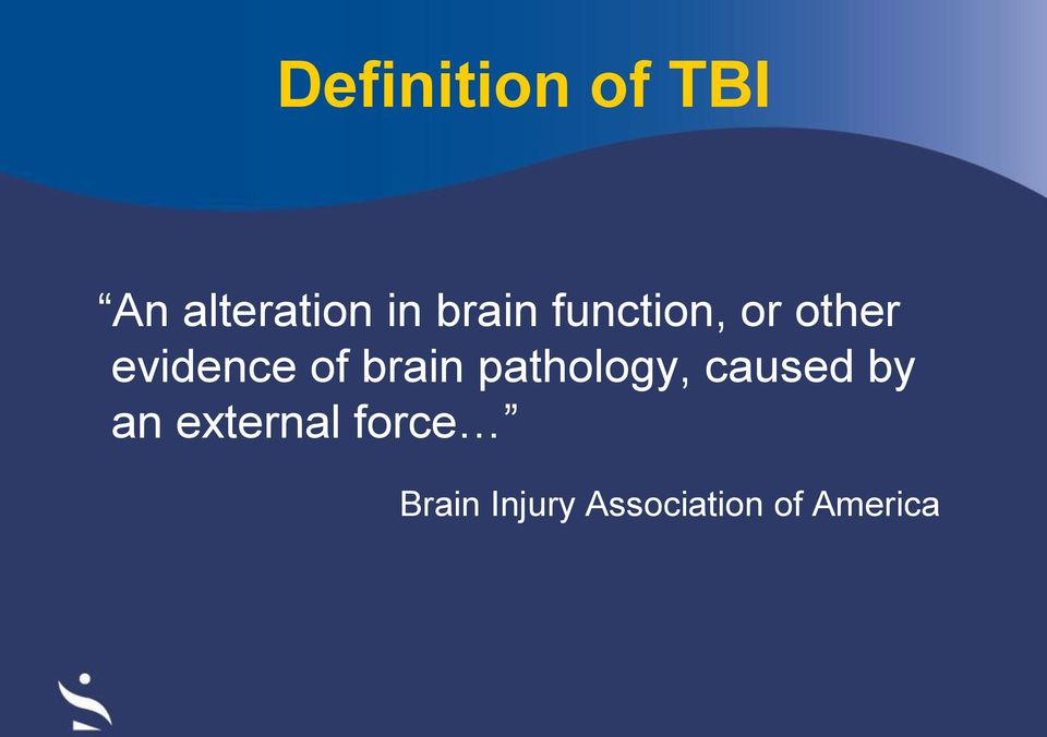 brain pathology, caused by an