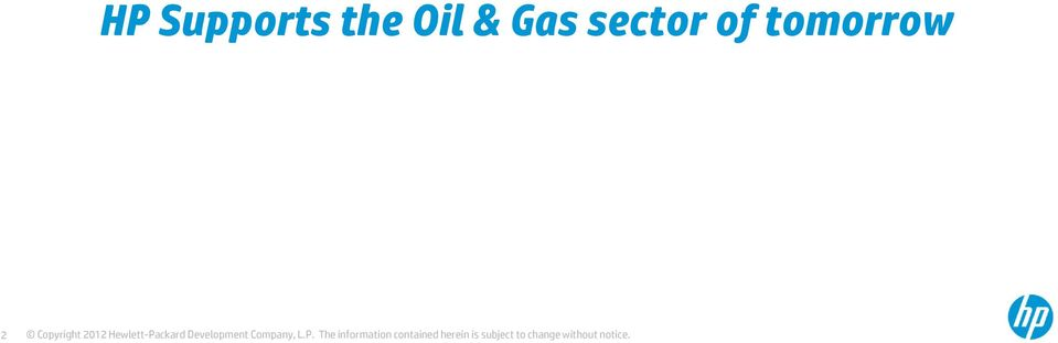 Gas sector
