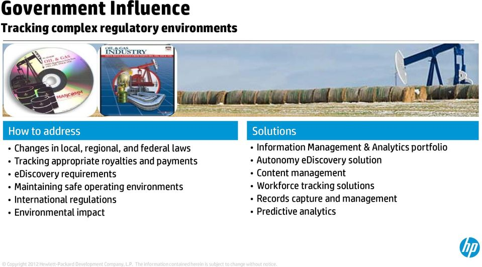environments International regulations Environmental impact Solutions Information Management & Analytics portfolio