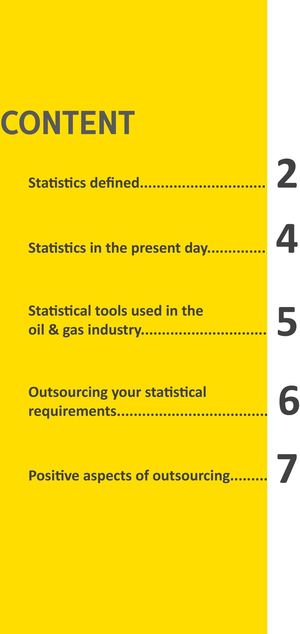 .. 2 4 Statistical tools used in the oil & gas