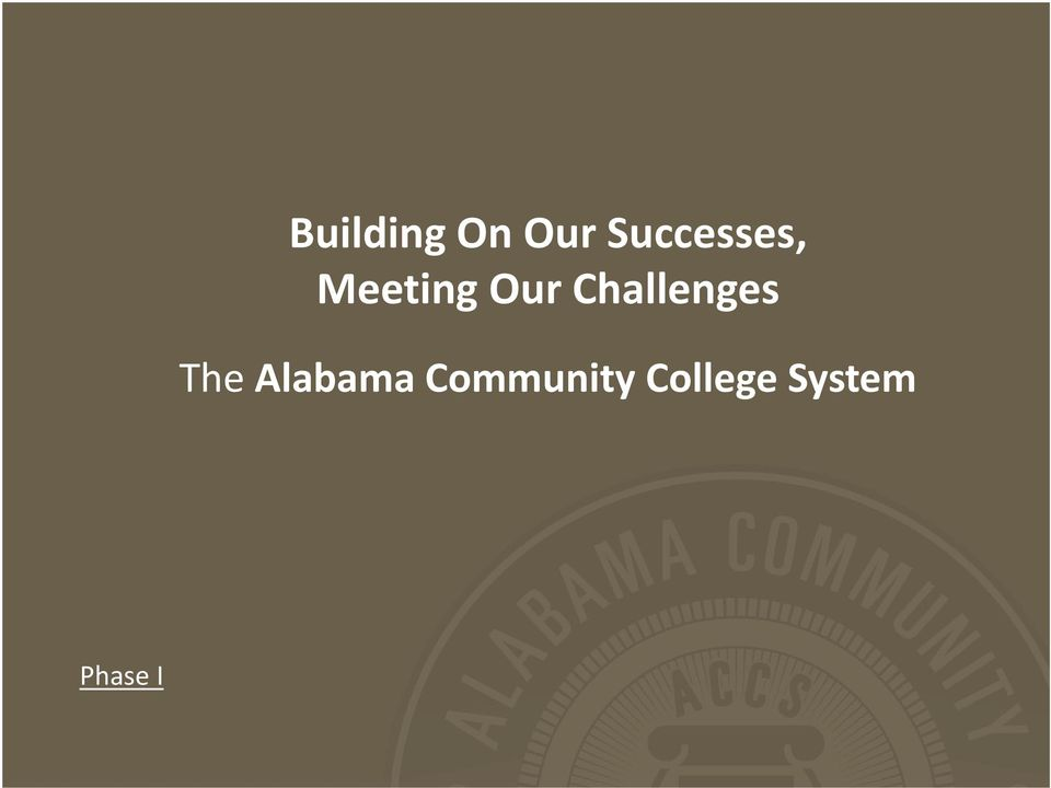 Challenges The Alabama
