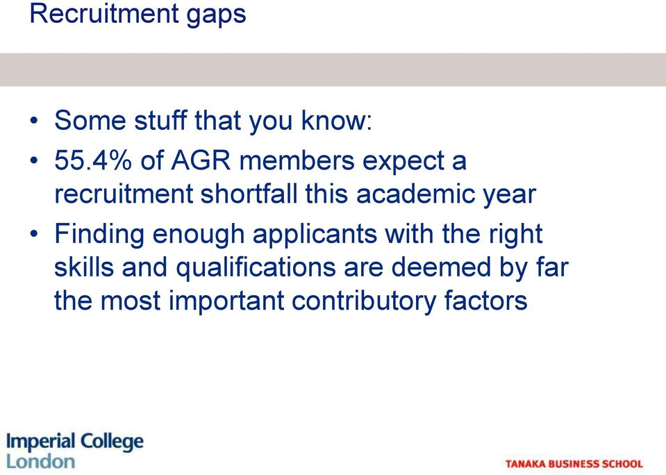 academic year Finding enough applicants with the right