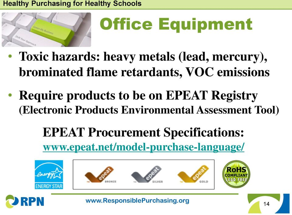 EPEAT Registry (Electronic Products Environmental Assessment Tool)