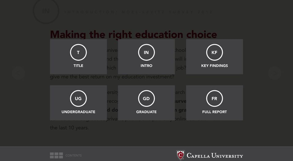 Which school will give me the best return on my education investment? To find out, Capella University sponsored a major research project.