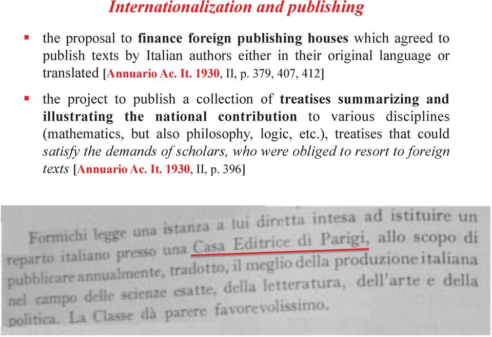 or translated [Annuario Ac. It. 1930, II, p. 379, 407, 412]!