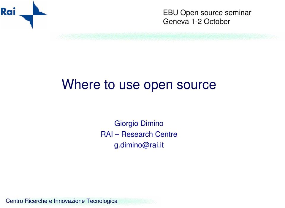 use open source Giorgio