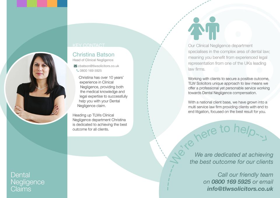 Heading up TLWs Clinical department Christina is dedicated to achieving the best outcome for all clients.