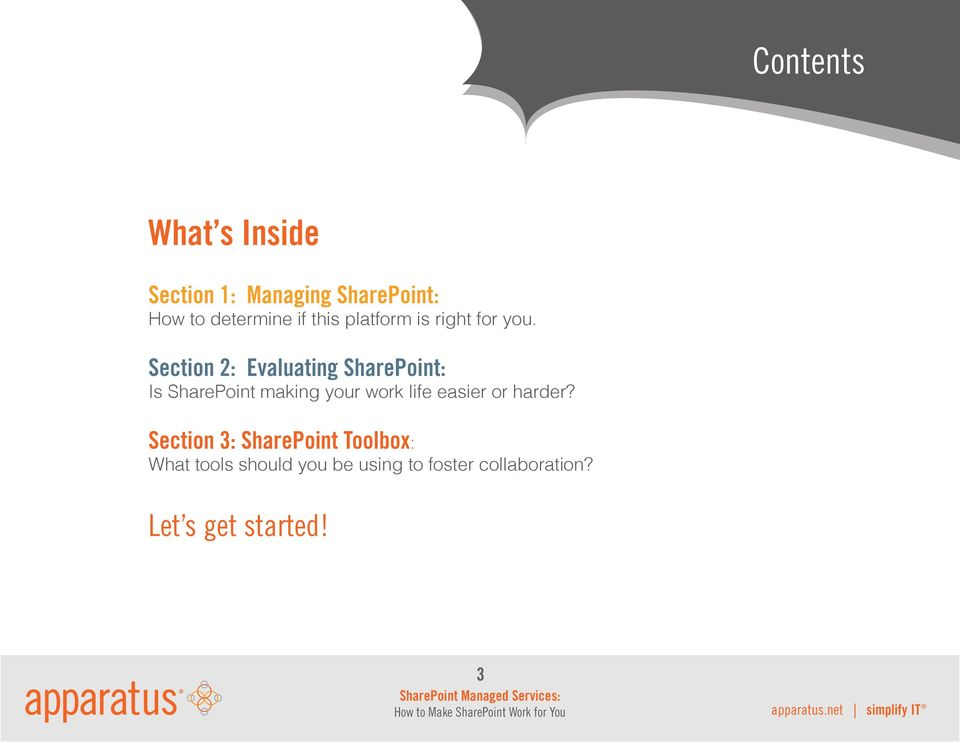 Section : Evaluating SharePoint: Is SharePoint making your work life easier