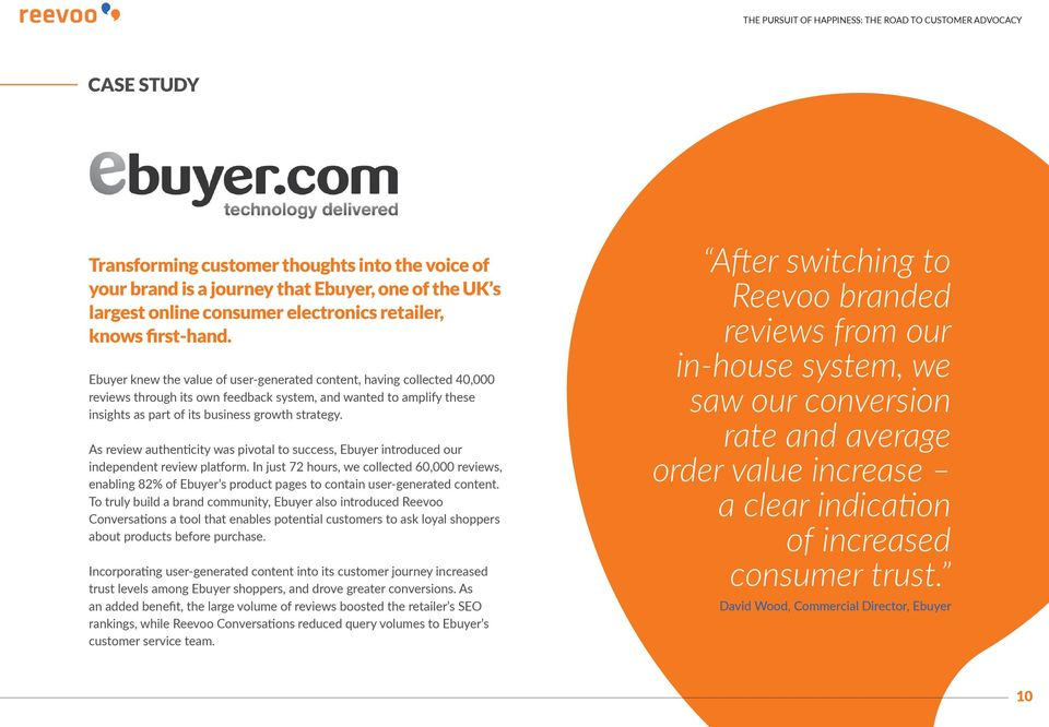 As review authenticity was pivotal to success, Ebuyer introduced our independent review platform.