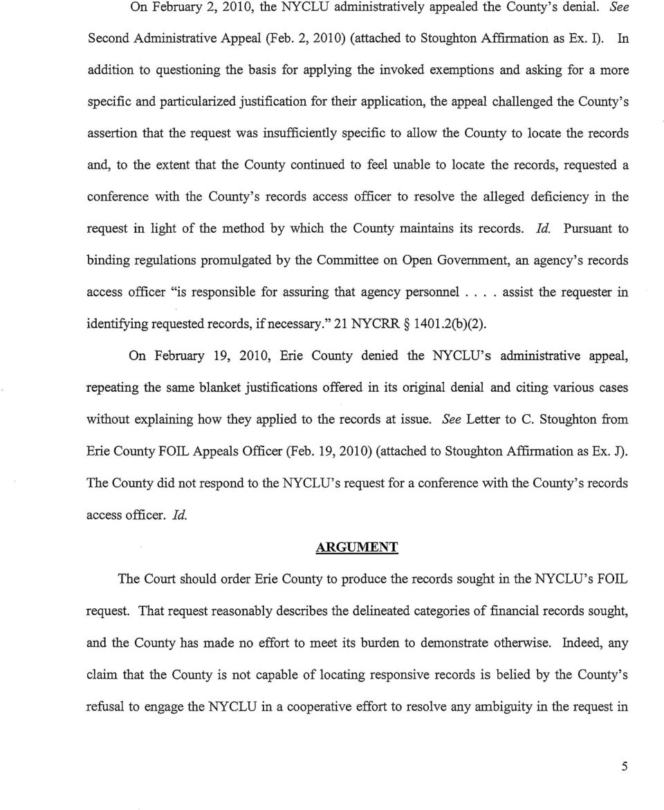 assertion that the request was insufficiently specific to allow the County to locate the records and, to the extent that the County continued to feel unable to locate the records, requested a