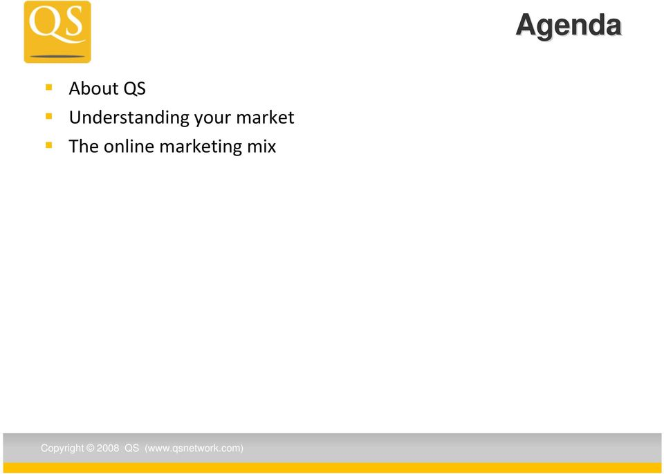 The online marketing mix