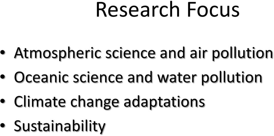 Oceanic science and water
