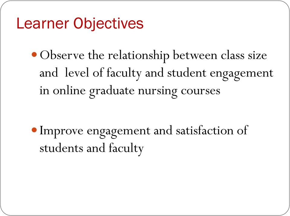 student engagement in online graduate nursing