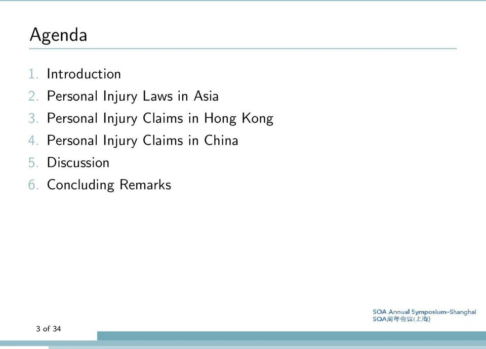 Personal Injury Claims in Hong Kong 4.
