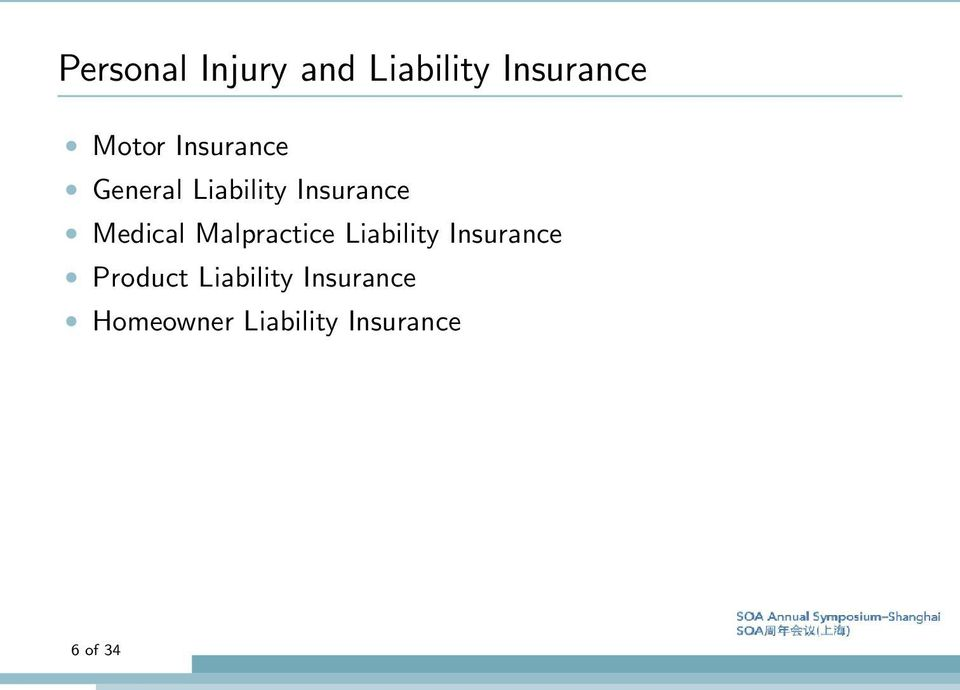 Malpractice Liability Insurance Product