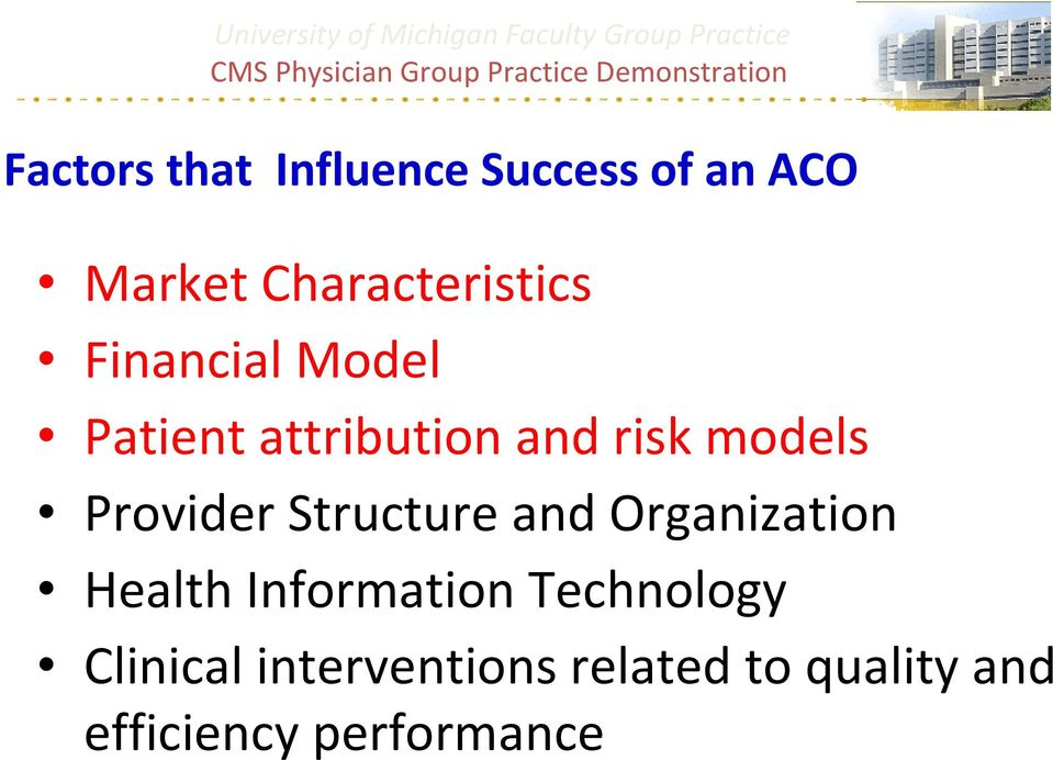 models Provider Structure and Organization Health Information
