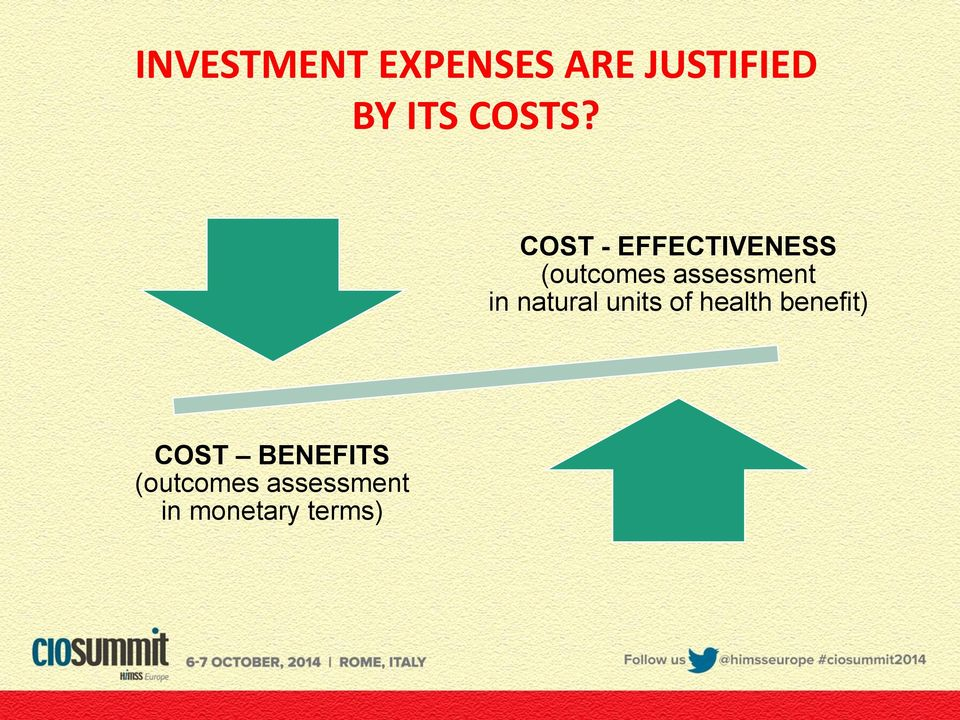 COST - EFFECTIVENESS (outcomes assessment in