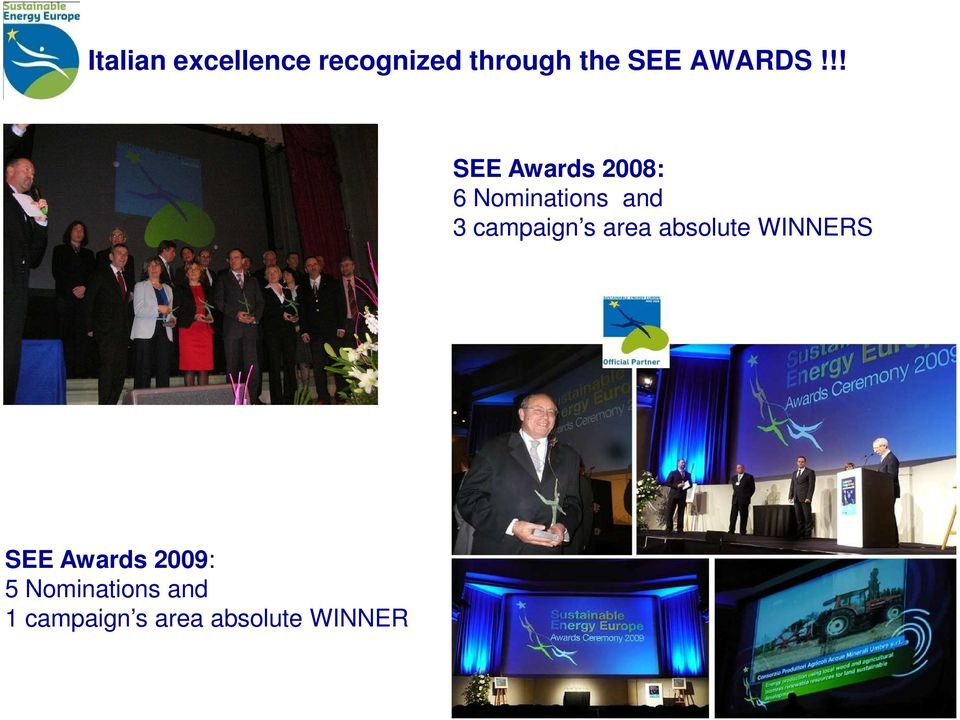 !! SEE Awards 2008: 6 Nominations and 3 campaign