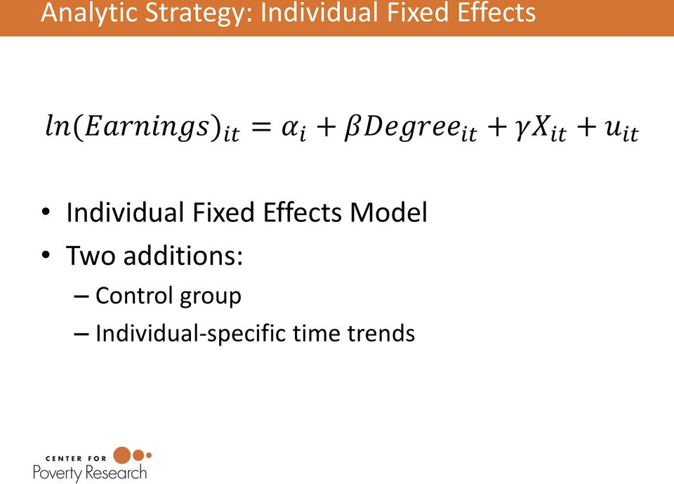 it Individual Fixed Effects Model Two