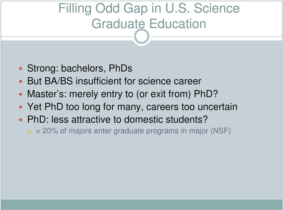 science career Master s: merely entry to (or exit from) PhD?