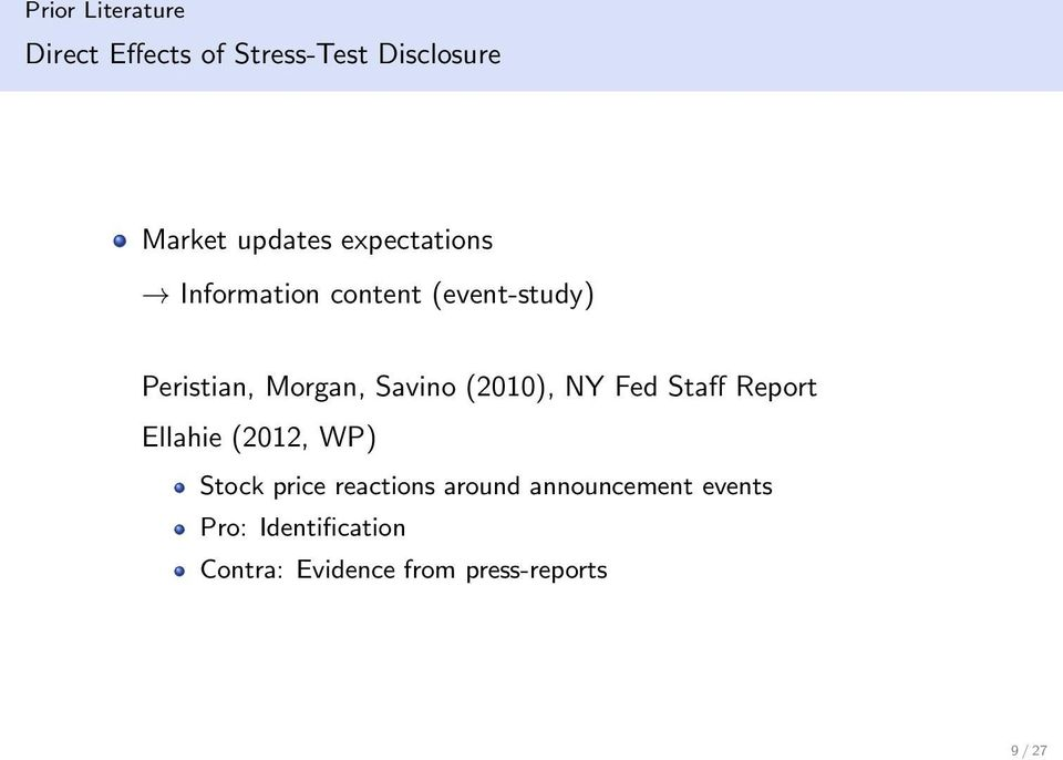 (2010), NY Fed Staff Report Ellahie (2012, WP) Stock price reactions around