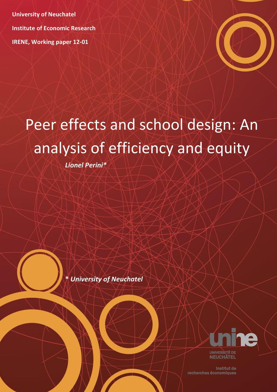 effects and school design: An analysis of