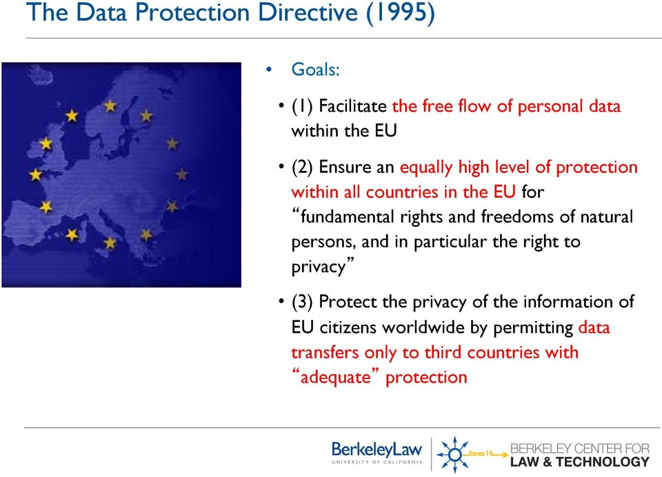 freedoms of natural persons, and in particular the right to privacy (3) Protect the privacy of the