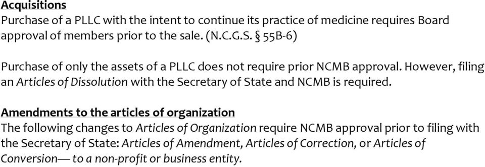 However, filing an Articles of Dissolution with the Secretary of State and NCMB is required.