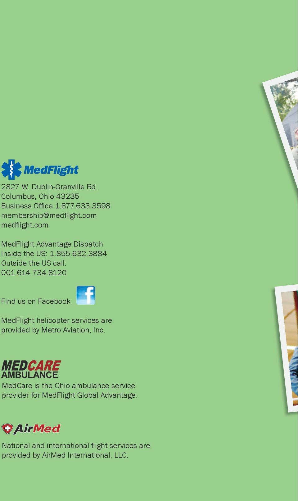 8120 Find us on Facebook MedFlight helicopter services are provided by Metro Aviation, Inc.