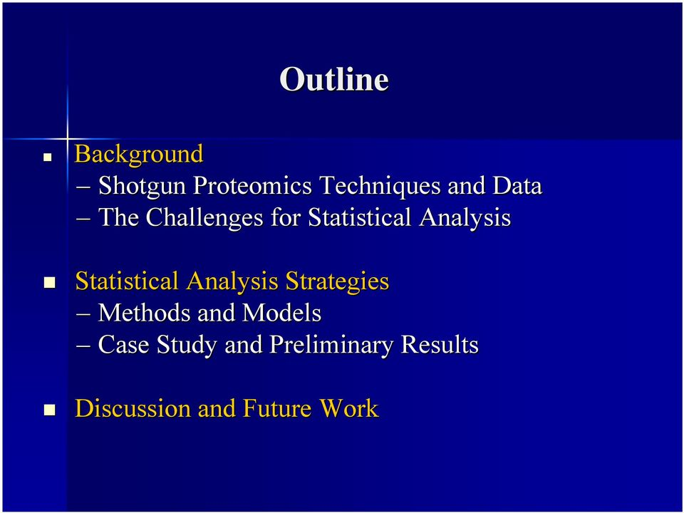 Statistical Analysis Strategies Methods and Models
