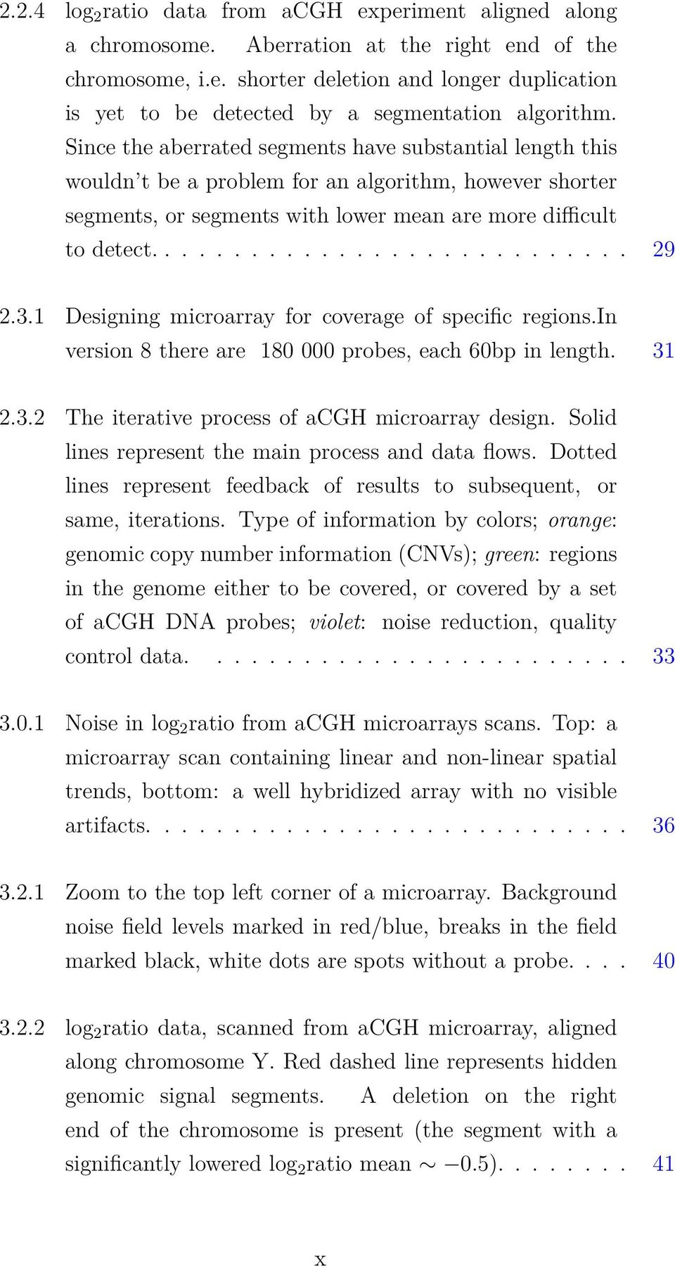 3.1 Designing microarray for coverage of specific regions.in version 8 there are 180 000 probes, each 60bp in length. 31 2.3.2 The iterative process of acgh microarray design.