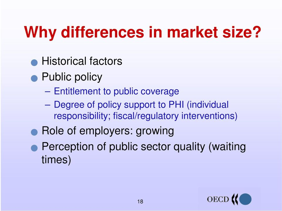 Degree of policy support to PHI (individual responsibility;