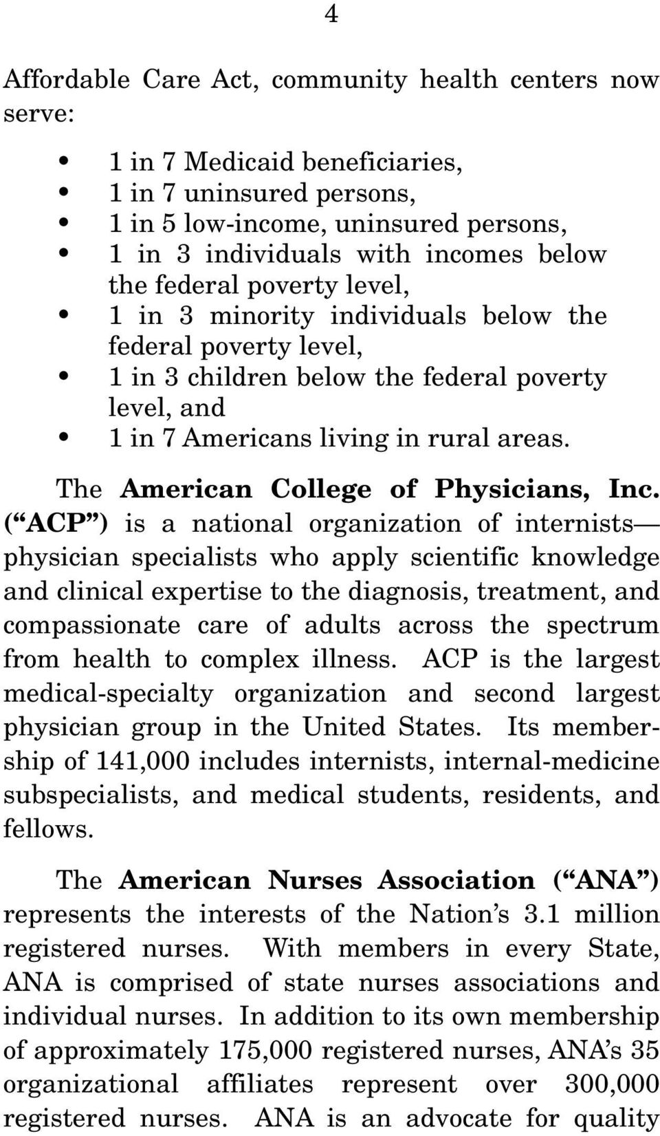 The American College of Physicians, Inc.