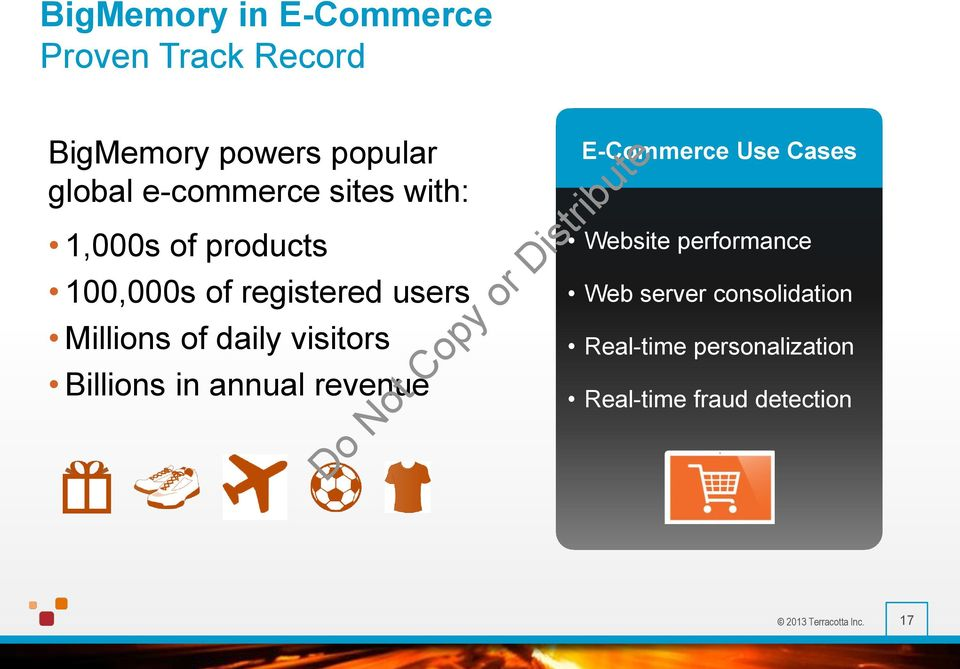 daily visitors Billions in annual revenue E-Commerce Use Cases Website performance