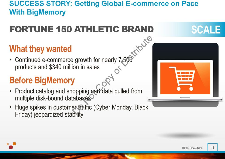 BigMemory Product catalog and shopping cart data pulled from multiple disk-bound databases Huge