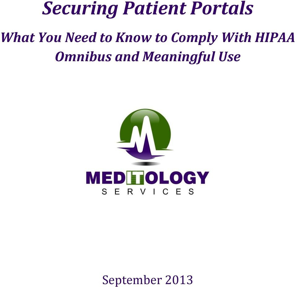 Comply With HIPAA Omnibus