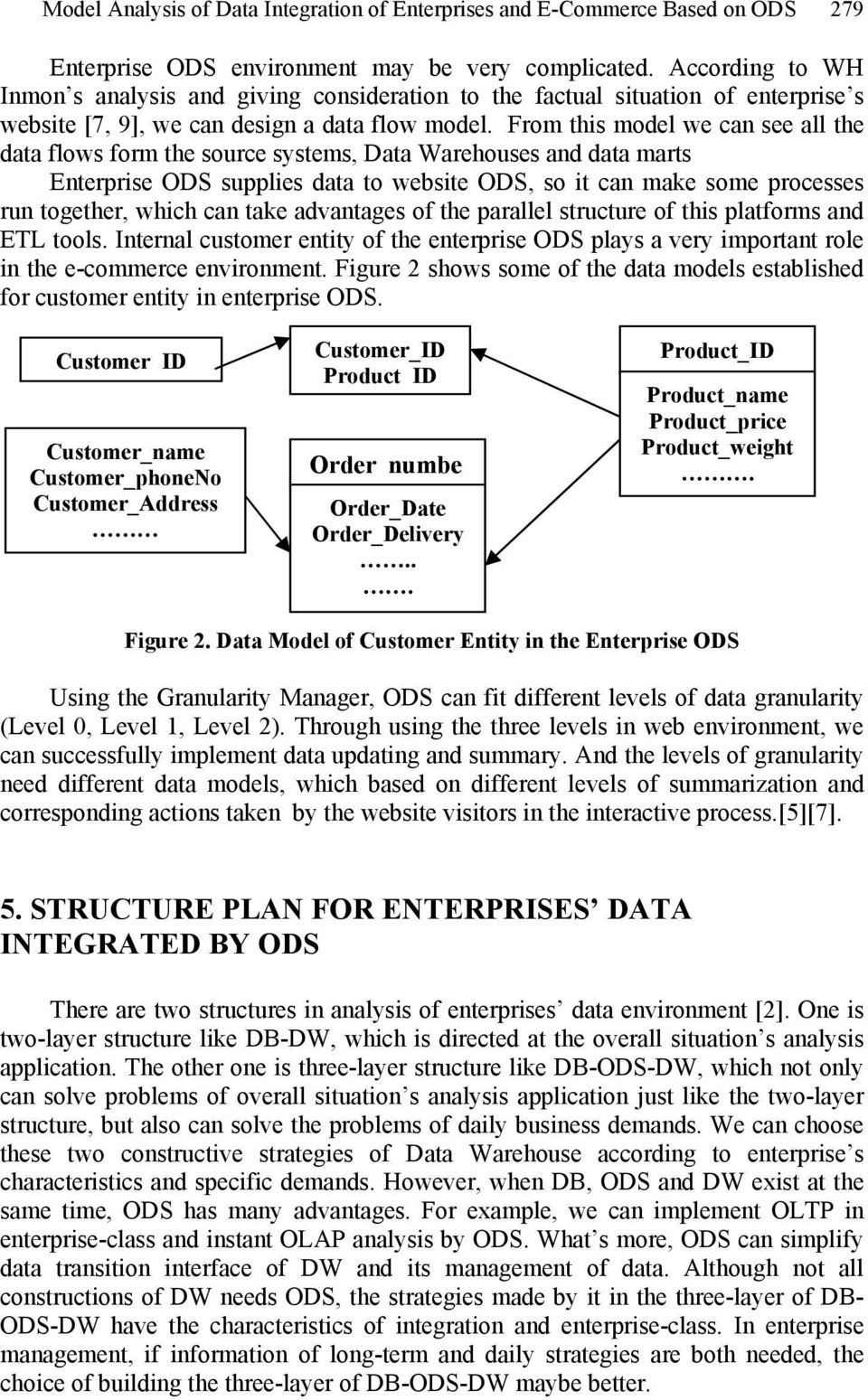 From this model we can see all the data flows form the source systems, Data Warehouses and data marts Enterprise ODS supplies data to website ODS, so it can make some processes run together, which