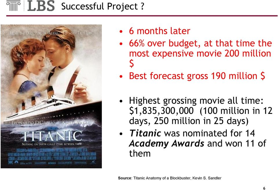 forecast gross 190 million $ Highest grossing movie all time: $1,835,300,000 (100 million