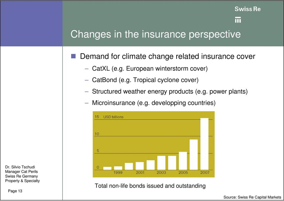 g. power plants) Microinsurance (e.g. developping countries) Page 13 Total non-life