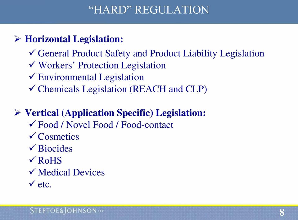 Chemicals Legislation (REACH and CLP) Vertical (Application Specific)
