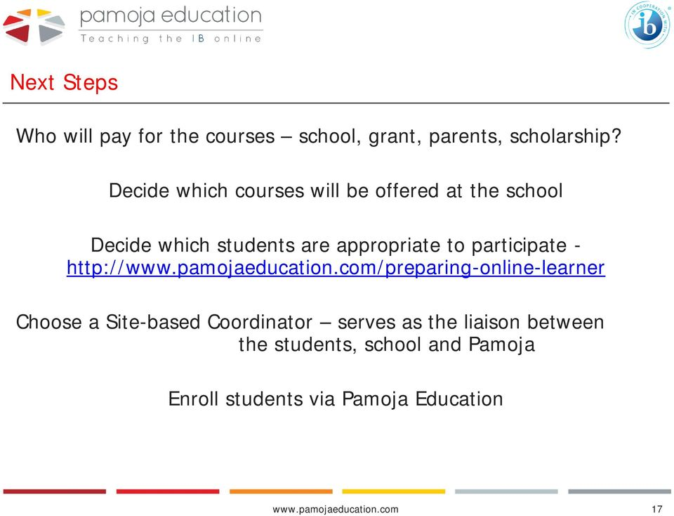 participate - http://www.pamojaeducation.