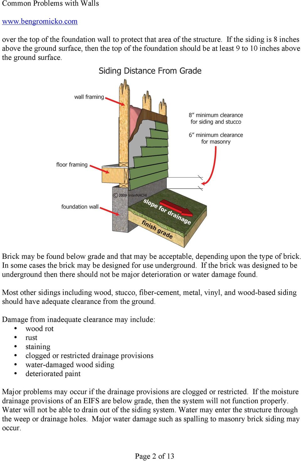 Brick may be found below grade and that may be acceptable, depending upon the type of brick. In some cases the brick may be designed for use underground.