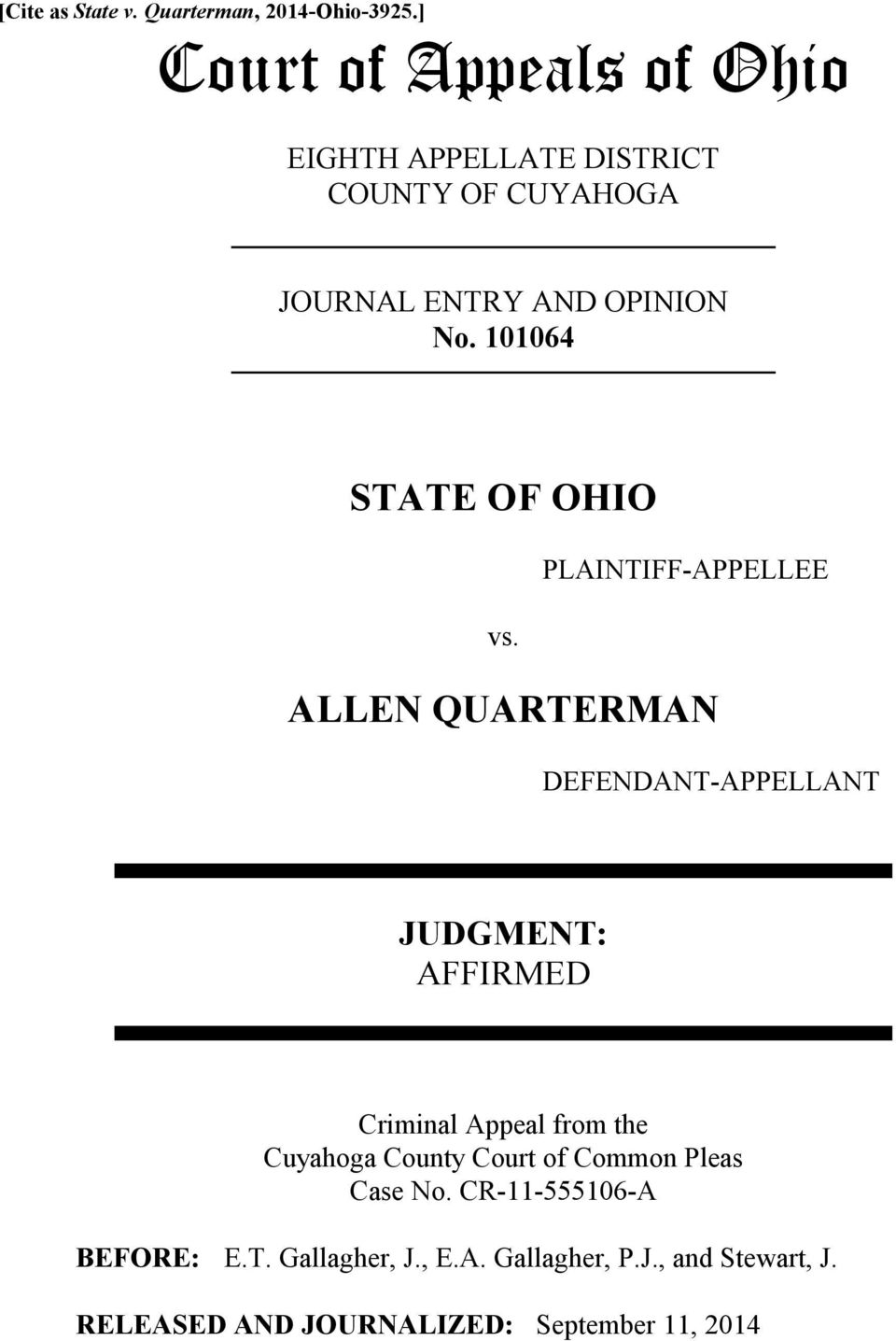 101064 STATE OF OHIO PLAINTIFF-APPELLEE vs.