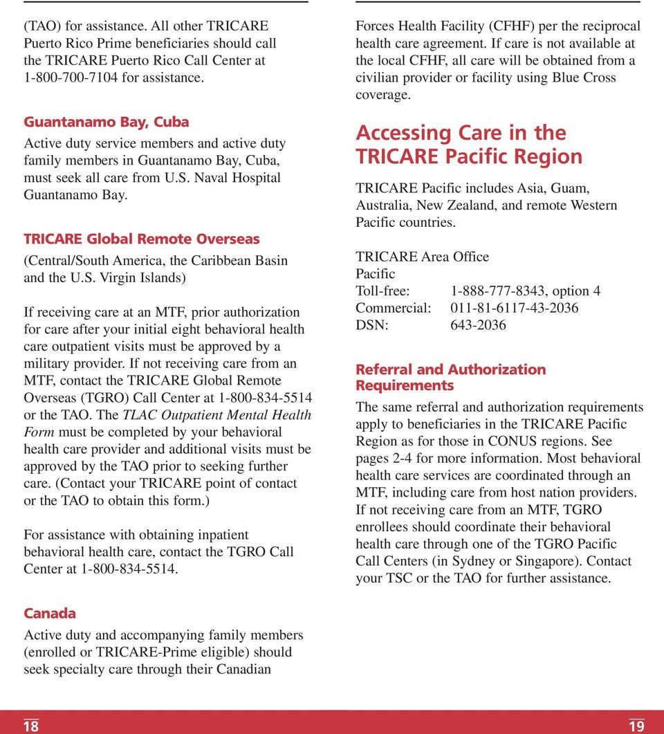 TRICARE Global Remote Overseas (Central/So