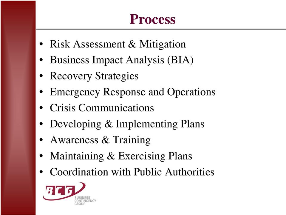 Crisis Communications Developing & Implementing Plans Awareness &